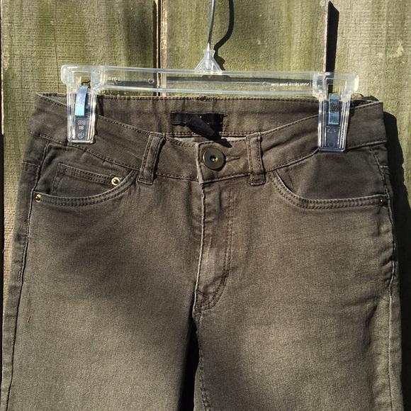 H&M Denim - Dark green skinny jeans